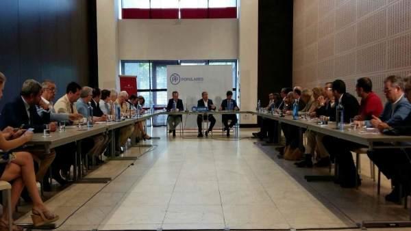 Reunión de Juan Ignacio Zoido (PP) con Confederación de Empresarios de Sevilla
