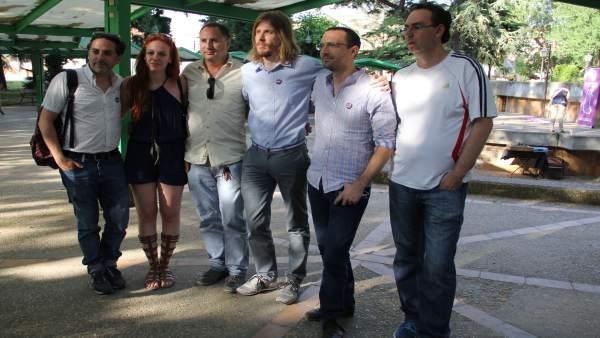 Representantes de Podemos en el acto celebrado en Palencia