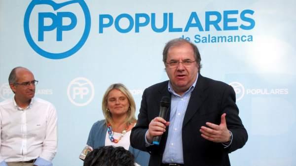 Juan Vicente Herrera en el acto político del PP en Peñaranda de Bracamonte