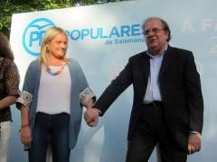 Mari Mar Blanco Junto Al Presidente De Castilla Y León, Juan Vicente Herrera