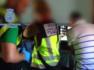 Detención de uno de los sospechosos