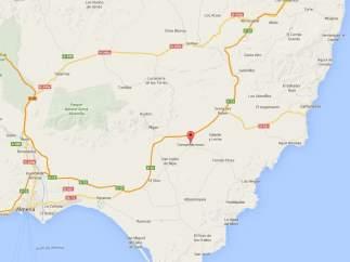 Localización de Campohermoso en Níjar, Almería