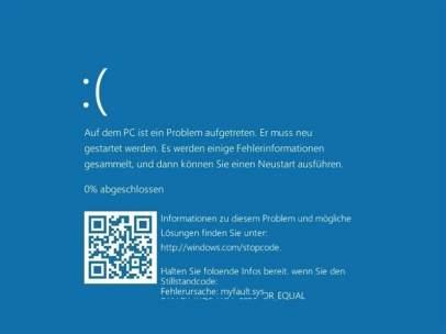 Pantalla azul de Microsoft