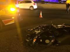 Un motorista fallece tras colisionar con un turismo en la A-2 cerca de Arturo Soria