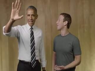 Mark Zuckerberg y Barack Obama