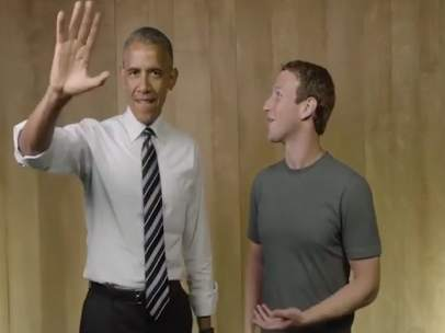 Mark Zuckerberg y Barack Obama