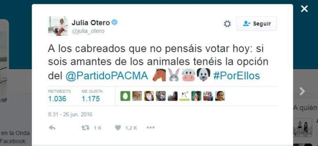 Tuit de Julia Otero