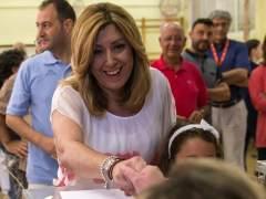 Susana Díaz felicita en Twitter al Cádiz por su ascenso tras su primera derrota electoral