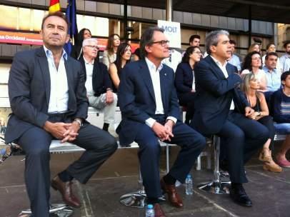 Miquel Calçada, Artur Mas, Francesc Homs, CDC