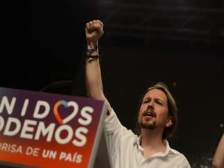 Pablo Iglesias en la noche electoral