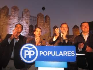 José Antonio Nieto, Fernando Priego, Mariano Rajoy y Juanma Moreno