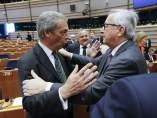 Juncker y Farage