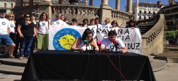 Los organizadores Iune San Millán y David Sánchez durante la rueda de prensa