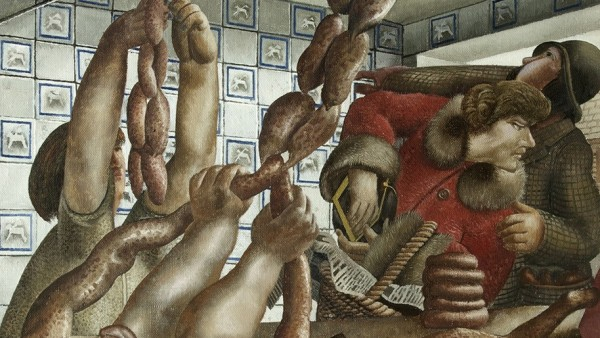 Stanley Spencer, Sausage Shop, 1951