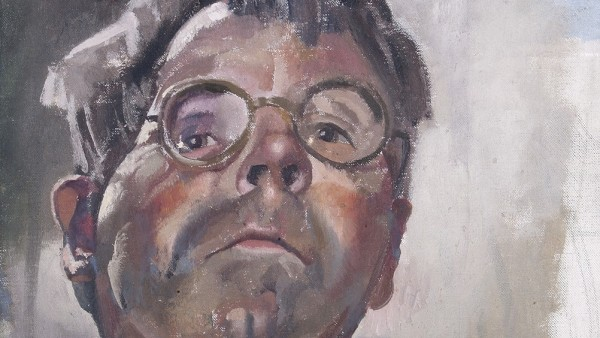 Stanley Spencer, Self-portrait By Gaslight Looking Downwards, 1949