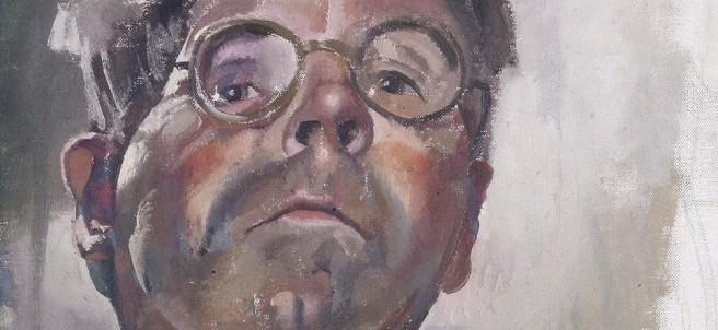 Stanley Spencer, Self-portrait By Gaslight Looking Downwards, 1949