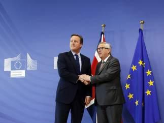 Cameron y Juncker