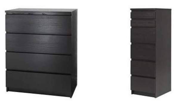 Cómodas de la serie Malm de Ikea
