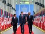 Peña Nieto, Trudeau y Obama en Canadá