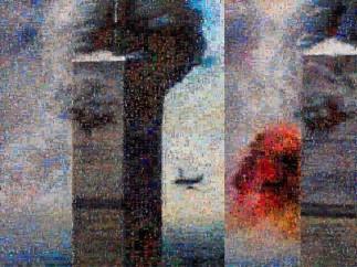 Joan Fontcuberta, GOOGLEGRAM: 11-S NY, 2005. GOOGLEGRAM: 11-S NY, 2005. September 11 plane crash snapshots