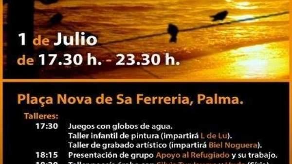 Cartel de la Diada de Apoyo al Refugiado, en Palma