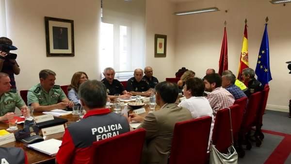 Reunión de seguridad con motivo de las fiestas de San Fermín 2016