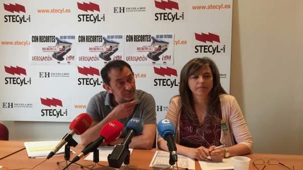 El secretario general de Stecyl, Pedro Escolar, junto a Marta Carrasco