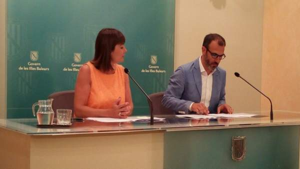 Armengol y Barceló en rueda de prensa