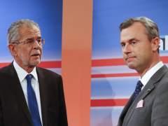 Los presidenciables de Austria, Alexander Van der Bellen y Norbert Hofer