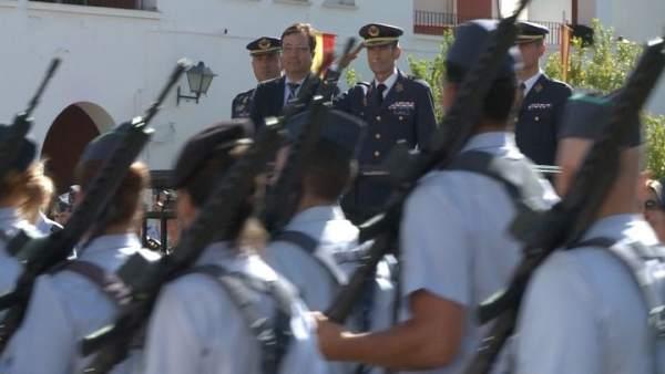 Fernández Vara en acto militar