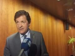 El presidente del Principado, Javier Fernández, en la Junta General