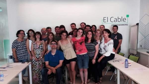 Participantes en la Lanzadera de Empleo de Almería