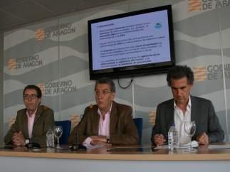 Javier Lucientes, Sebastián Celaya y Francisco Falo.