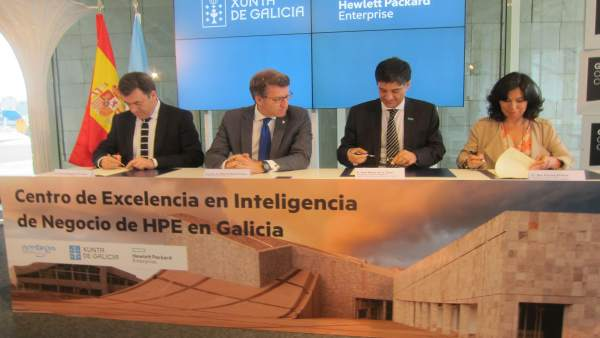 Firma de convenio HPE con la Xunta de Galicia