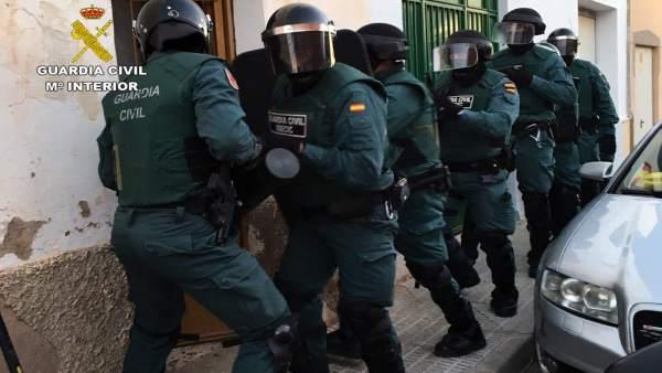 Guardia Civil en una operación