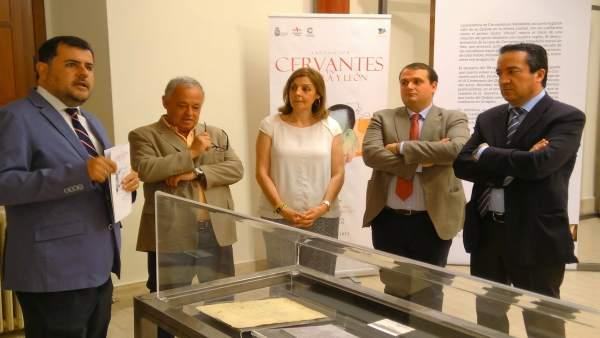 Inauguración de la exposición en Arévalo