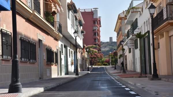 Reforma de la calle Torrox de Fuengirola