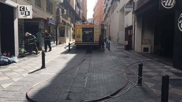 Intervención de los bomberos de Algeciras