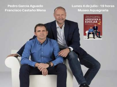 Cartel anunciador de la conferencia de Pedro García Aguado y Francisco Castaño