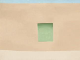 Georgia O'Keeffe 1887-1986 - Wall with Green Door 1953