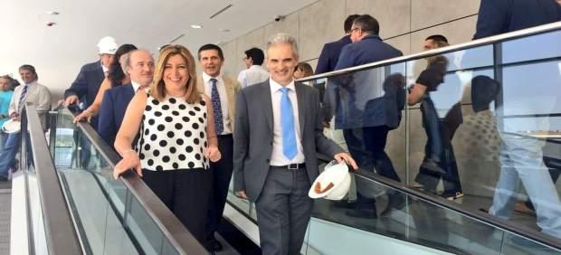 Susana Díaz visita el nuevo hospital de La Línea de la Concepción (Cádiz)