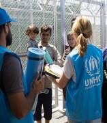 Voluntarios de Acnur en Grecia