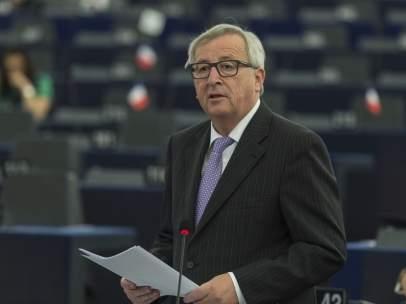 Juncker, en el Parlamento Europeo