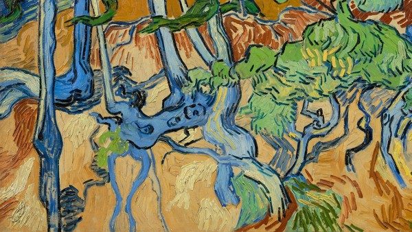 Vincent van Gogh, Tree Roots, oil on canvas, July 1890