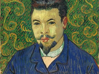 Vincent van Gogh, Portrait of Dr Félix Rey, oil on canvas, January 1889