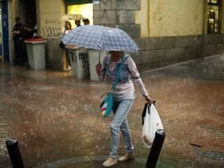 Lluvia en Madrid, temporal, frío