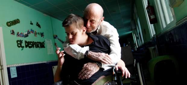 Andrés Aberasturi y su hijo