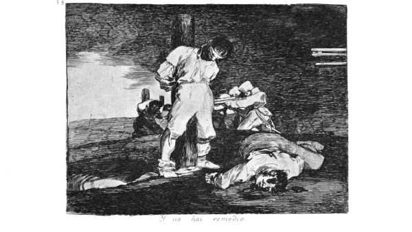 Uno de los grabados de Goya que se podrán ver en Valladolid
