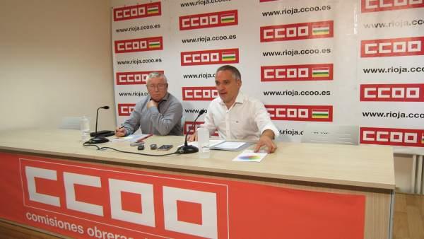 Toxo y Ruano de CCOO en rueda de prensa