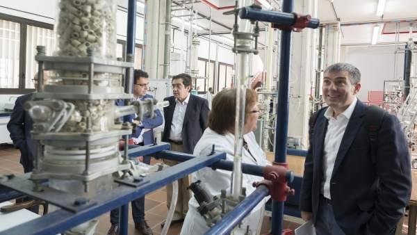 Visita de Clavijo al Campus de la Ciencia y la Tecnología